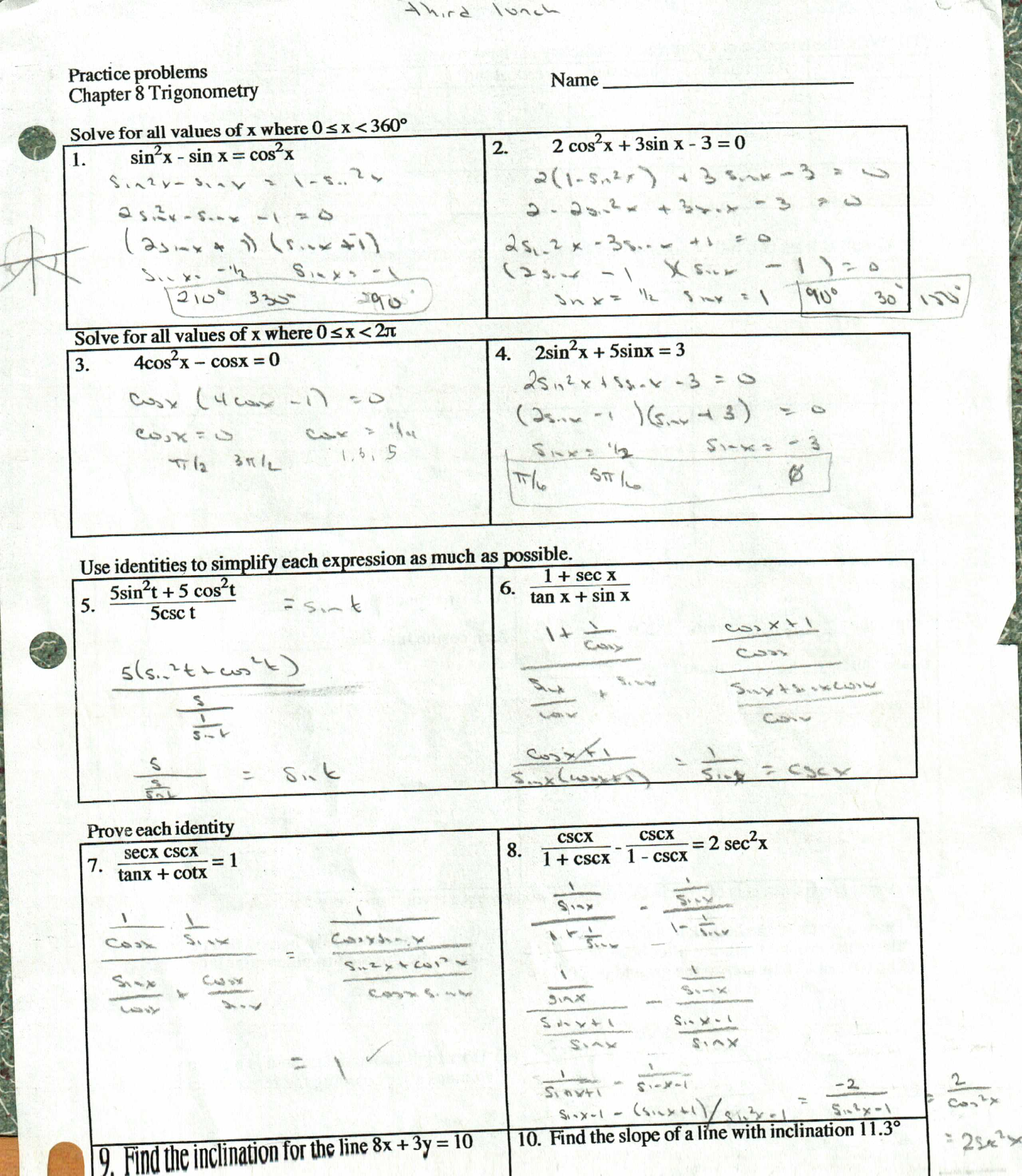 Worksheets Trigonometric Identities Worksheet trigonometric identities worksheet free worksheets library another good puzzlebut this time its for the trig identities